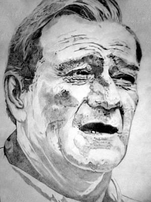 Voice Actor Drawing - John Wayne - Large by Robert Lance