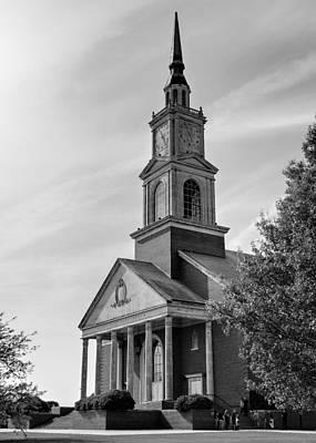 John Wesley Raley Chapel Black And White Print by Ricky Barnard