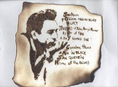 Pyrography Pyrography - Johnny Cash by Clarence Butch Martin