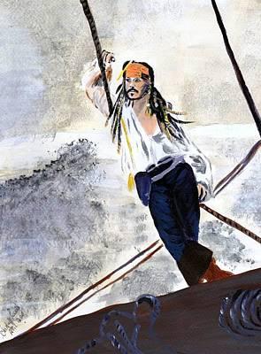 Jack Sparrow Painting - Johnny Depp 8 by Audrey Pollitt