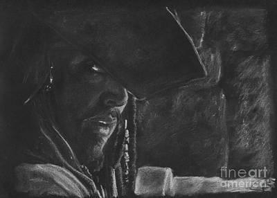 Johnny Depp Drawing - Johnny Depp by Rosalinda Markle