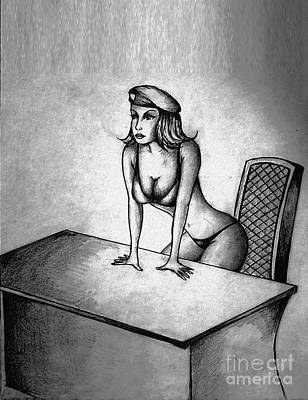 Boobies Drawing - Join Me by Dejan Jovanovic