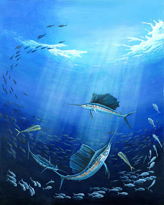 Scuba Painting - Joint Venture by Sandra Camper