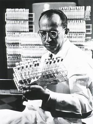 Infantile Paralysis Photograph - Jonas E. Salk 1914-1995, American by Everett