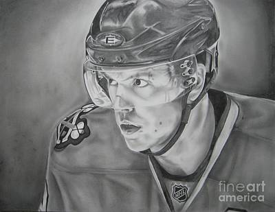 Chicago Blackhawks Drawing - Jonathan Toews by Brian Schuster