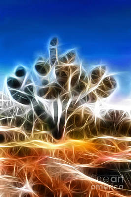 Trees Painting - Joshua Tree by Methune Hively