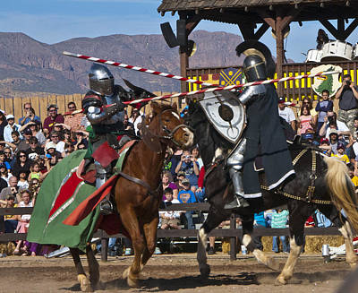 Renaissance Fairs Photograph - Joust To The End... by Jon Berghoff