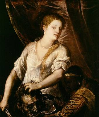 Judith With The Head Of Holofernes Print by Tiziano Vecellio Titian