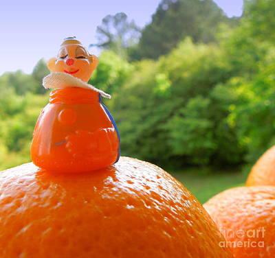 Juggling Oranges Print by Renee Trenholm