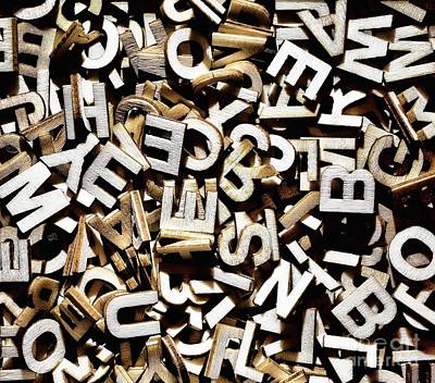 Mess Photograph - Jumbled Letters by Simon Bratt Photography LRPS