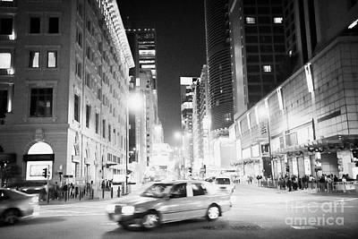 Tsui Photograph - Junction Of Salisbury Road And Nathan Road Tsim Sha Tsui Kowloon At Night Hong Kong Hksar China Asia by Joe Fox