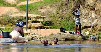 People Photograph - Jungle River Scene by Danielle Del Prado