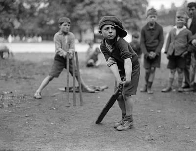 Junior Cricketer Print by Fox Photos