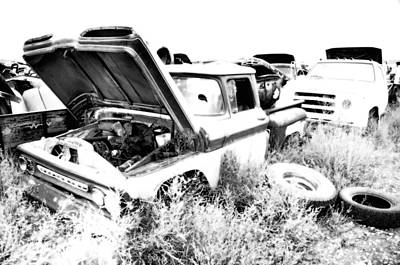 Junkyard Infrared 2 Print by Matthew Angelo