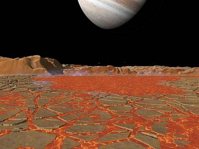 Jupiter From Io, Artwork Print by Walter Myers