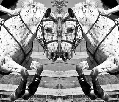 Horse Show Digital Art - Just Jump It by Betsy Knapp