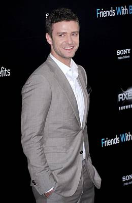 Justin Timberlake At Arrivals Print by Everett