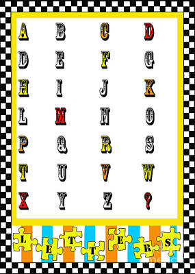 Juvenile Licensing Mixed Media - Juvenile Alphabet Licensing Art by Anahi DeCanio