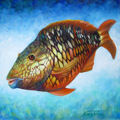 Juvenile Parrot Fish Original by Nancy Tilles