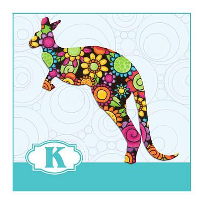 Kangaroo Painting - K Is For Kangaroo by Elaine Plesser