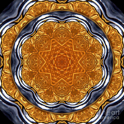 Mandala Photograph - Kaleidoscope Perfume Bottle by Janeen Wassink Searles