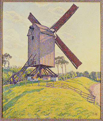 Moulin Painting - Kalf Mill by Theo van Rysselberghe