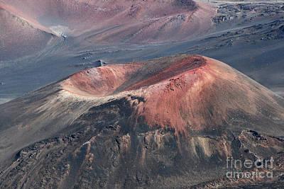 Crater Digital Art - Kamaolii Cinder Cone - Haleakala Crater - View From Kalahaku  by Sharon Mau