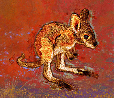Kangaroo Joey Print by Mary Ogle