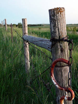 Mission Ventures Photograph - Kansas Fence Post by Terry Eve Tanner