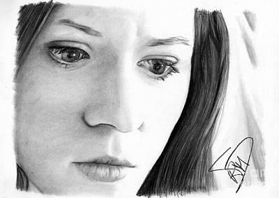 Markle Drawing - Karen Gillan by Rosalinda Markle