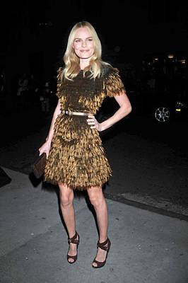 Belted Dress Photograph - Kate Bosworth Wearing A Burberry by Everett