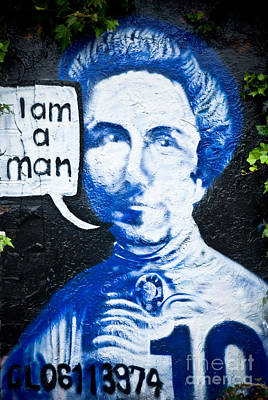 Kate Sheppard I Am A Man Graffiti Print by Yurix Sardinelly