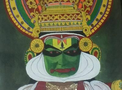 Shashi Kumar Drawing - Kathakali by Shashi Kumar