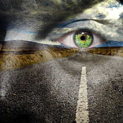 Keep Your Eyes On The Road Print by Semmick Photo