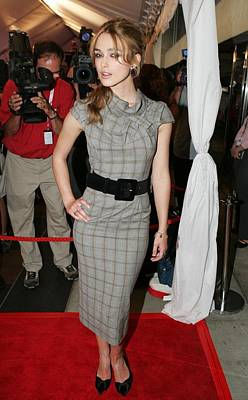 Keira Knightley Wearing A Roland Mouret Print by Everett