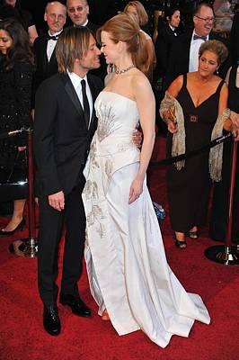 Keith Urban, Nicole Kidman At Arrivals Print by Everett