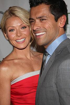 Kelly Ripa, Mark Consuelos At Arrivals Print by Everett