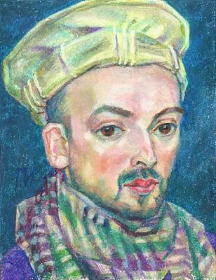 Pastel Painting - Kemal Tarba by Leonid Petrushin