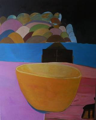 Landscape Painting - Kept At Bay by Christopher Pekarik