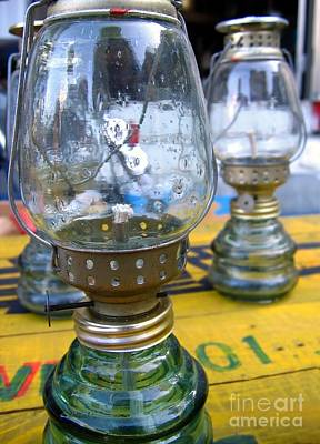 Kerosene Lamps Print by Yali Shi