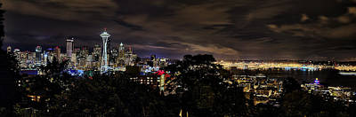 Kerry Park Night View Print by James Heckt