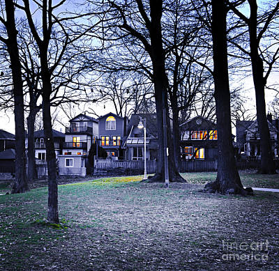 Emptiness Print featuring the photograph Kew Park At Dusk by Elena Elisseeva