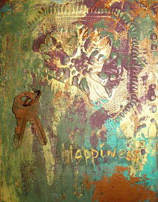 Keys To Happiness Print by Cheri Stripling