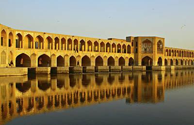 Iran Photograph - Khaju Bridge by Kelly Cheng Travel Photography