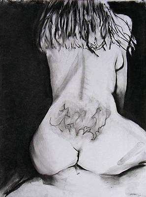 Brad Wilson Drawing - Kickback by Brad Wilson