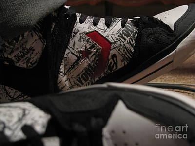 Sneakers Mixed Media - Kicks by Malik  Church