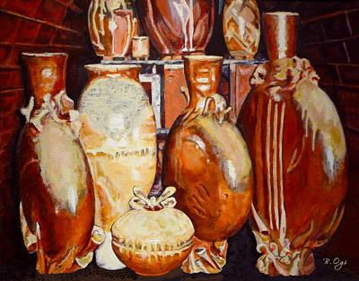 Ceramics Painting - Kiln Party by Brian Ogi