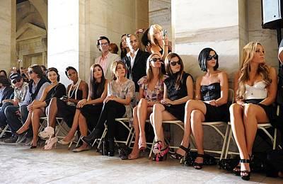 Mercedes-benz Fashion Week Show Photograph - Kim Kardashian, Kelly Rowland, Amanda by Everett