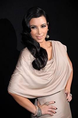 Kim Kardashian Wearing A Victoria Print by Everett