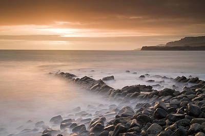 Y120817 Photograph - Kimmeridge Bay At Dusk, Dorset, England, Uk by Ben Pipe Photography